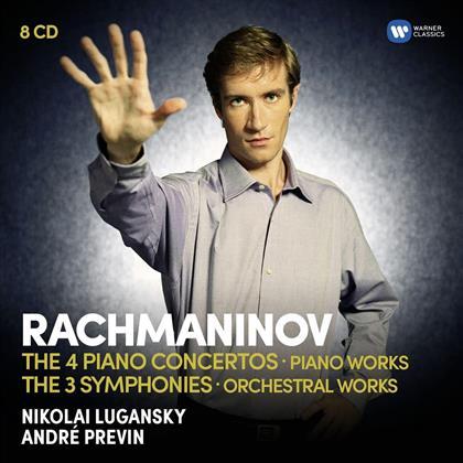 Sakari Oramo, André Previn (*1929), Alexandre Kniazev & Nikolai Lugansky - Piano Concertos, Rhapsodies on Themes, Prélude op.23, Cello Sonata, Symphonies 1,2,3 (8 CDs)