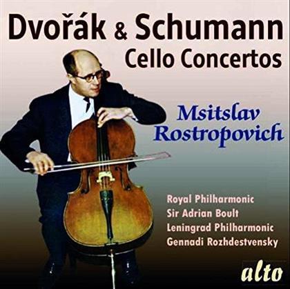 Antonin Dvorák (1841-1904), Robert Schumann (1810-1856), Sir Adrian Boult, Gennadi Rozhdestvensky, Mstislav Rostropovitsch, … - Cello Concertos