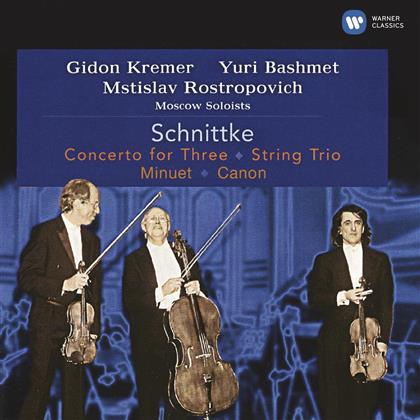 Yuri Bashmet, Mstislav Rostropovitsch, Alfred Schnittke (1934-1998), Mstislav Rostropovitsch & Moscow Soloists - Concerto For Three, String Trio, Minuet, Canon - Rostropowitsch-Edition