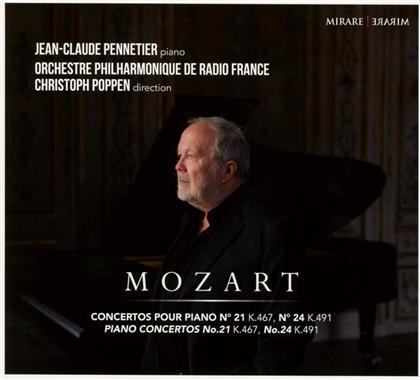 Wolfgang Amadeus Mozart (1756-1791), Christoph Poppen, Jean-Claude Pennetier & Orchestre Philharmonique de Radio France - Piano Concertos No.21 K 467 & 24 K 491