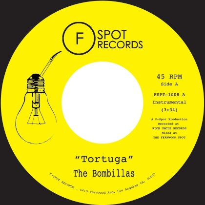 """Bombillas - Tortuga / Kings Up - 7 Inch (Colored, 7"""" Single)"""