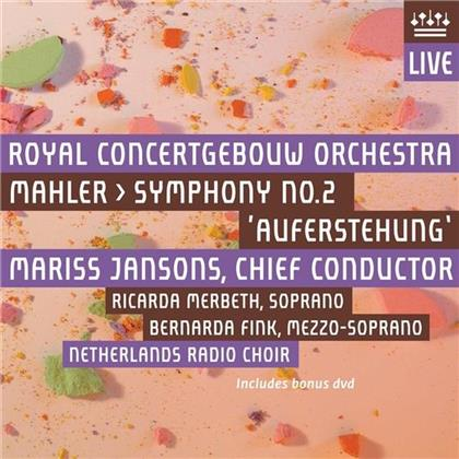Mariss Jansons, Ricarda Merbeth, Bernarda Fink, Royal Concertgebouw Orchestra & Netherlands Radio Choir - Symphony No.2 - Concertgebow Amsterdam 3, 4 and 6 December 2009 (2 Hybrid SACDs + DVD)