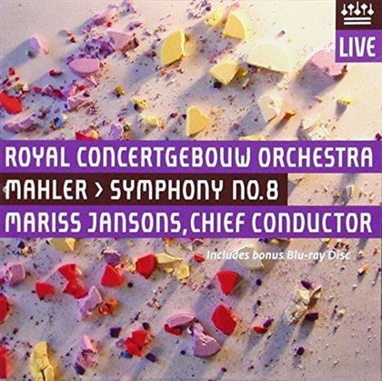 Gustav Mahler (1860-1911), Mariss Jansons & Royal Concertgebouw Orchestra - Symphony No.8 (Hybrid SACD + Blu-ray)