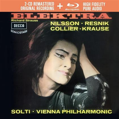 Birgit Nilsson, Regina Resnik, Tom Krause, Richard Strauss (1864-1949), Sir Georg Solti, … - Elektra - 2CD Remastered + Blu-ray Audio (2 CDs + Blu-ray)