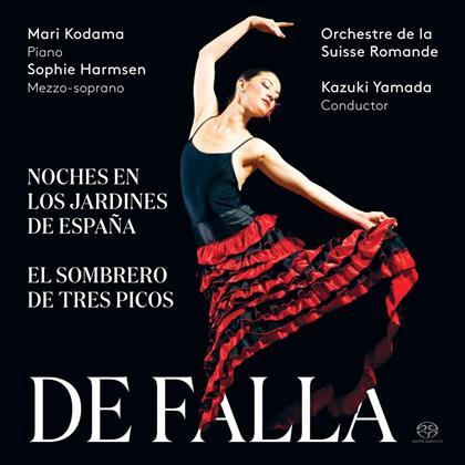 Sophie Harmsen, Manuel de Falla (1876-1946), Kazuki Yamada, Mari Kodama & Orchestra De La Suisse Romand - Noches En Los Jardins De Espana (Hybrid SACD)