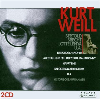Kurt Weill (1900-1950), Lotte Lenya & + - Die Dreigroschenoper, Aufstieg Und Fall, Happy End, Knickerbocker Holyday, + - Historische Aufnahmen (2 CDs)