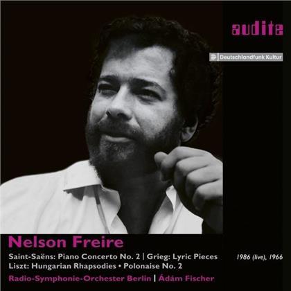 Nelson Freire, Camille Saint-Saëns (1835-1921), Edvard Grieg (1843-1907), Franz Liszt (1811-1886), Adam Fischer, … - Klavierkonzert Nr.2 - Live-Aufnahmen Von 1966 & 1986