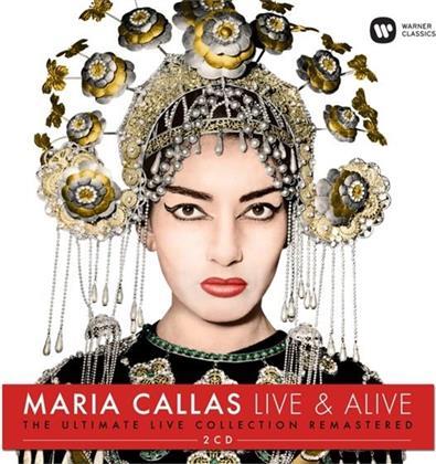 Maria Callas, Vincenzo Bellini (1801-1835), Gaetano Donizetti (1797-1848), Giuseppe Verdi (1813-1901) & + - Maria Clallas - Live & Alive (2 CDs)
