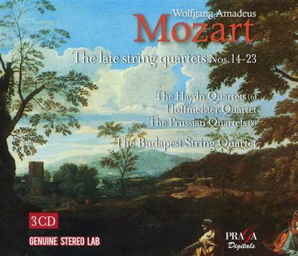 Budapest String Quartet & Wolfgang Amadeus Mozart (1756-1791) - String Quartets Nos.14-23 (3 CDs)