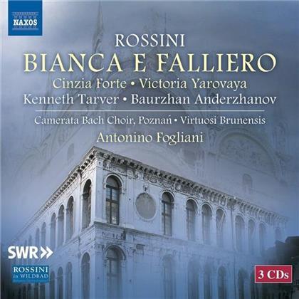 Virtuosi Brunensis, Laurent Kubla, Kenneth Tarver, Baurzhan Anderzhanov, Gioachino Rossini (1792-1868), … - Bianca E Falliero (3 CDs)