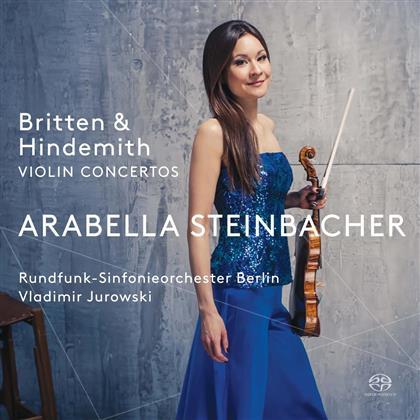 Arabella Steinbacher, Benjamin Britten (1913-1976), Paul Hindemith (1895-1963), Vladimir Jurowski (1915-1972) & Rundfunk Sinfonieorchester Berlin - Violin Concertos / Violinkonzerte (SACD)