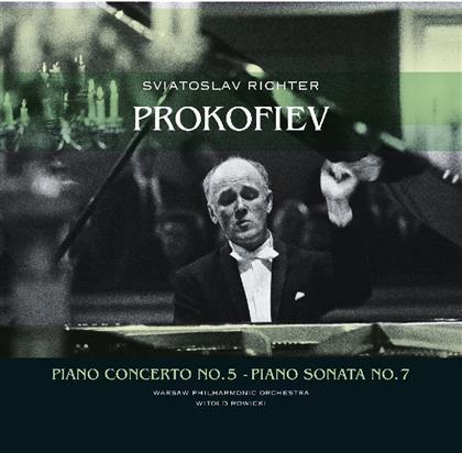 Sviatoslav Richter, Serge Prokofieff (1891-1953), Witold Rowicki & Warsaw Philharmonic Orchestra - Klavierkonzert Nr. 5, Klaviersonate Nr. 7 - Vinyl Passion (LP)