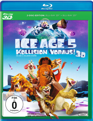 Ice Age 5 - Kollision voraus! (2016) (Blu-ray 3D + Blu-ray)