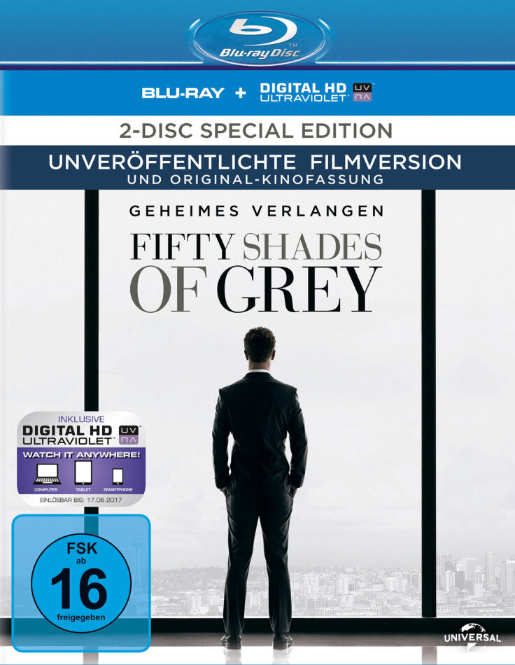 Fifty Shades of Grey - Geheimes Verlangen (2015) (Special Edition, Blu-ray + DVD)