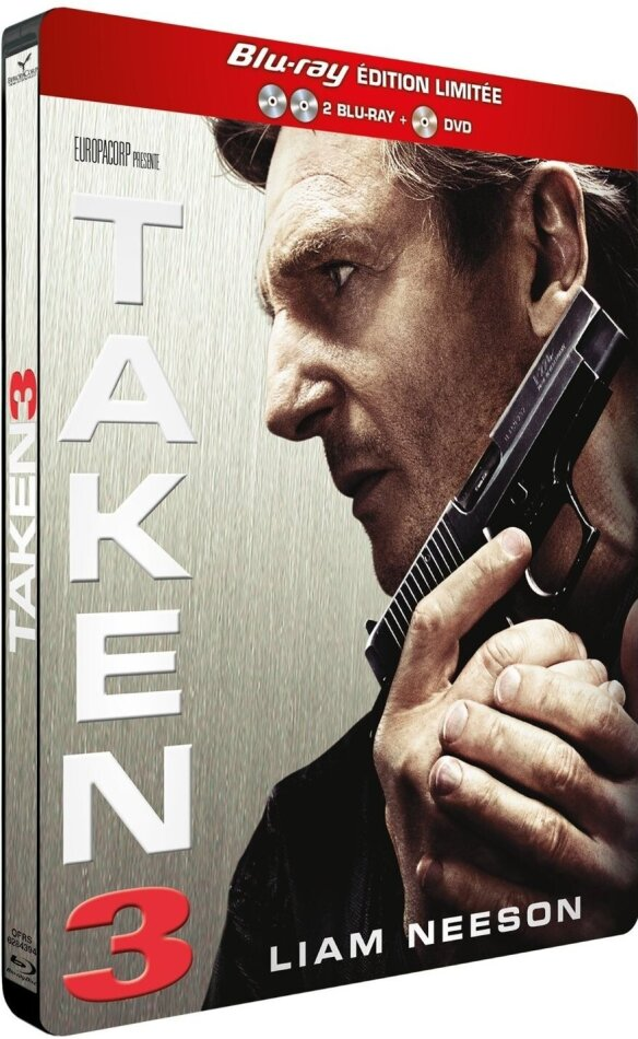 Taken 3 (2015) (Limited Edition, Steelbook, 2 Blu-rays + DVD)