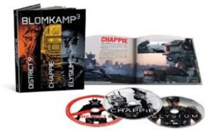 Blomkamp³ - Chappie / District 9 / Elysium (Digibook, Limited Collector's Edition, 3 Blu-rays)