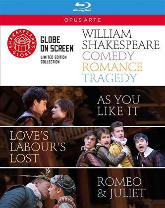 Shakespeare - Comedy, Romance, Tragedy (Opus Arte, Shakespeare's Globe, Edizione Limitata, 3 Blu-ray) - Globe Theatre
