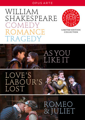 Shakespeare - Comedy, Romance, Tragedy - Globe Theatre (Opus Arte, Shakespeare's Globe, Edizione Limitata, 4 DVD) - Globe Theatre