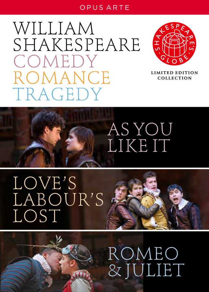 Shakespeare - Comedy, Romance, Tragedy - Globe Theatre (Opus Arte, Shakespeare's Globe, Limited Edition, 4 DVDs) - Globe Theatre