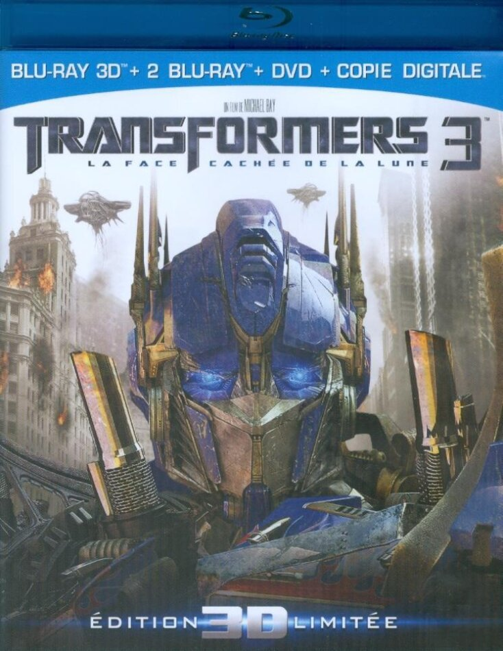 Transformers 3 - La Face cachée de la lune (2011) (Limited Edition, Blu-ray 3D + 2 Blu-rays + DVD)