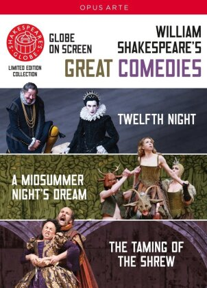 Shakespeare - Great Comedies (Opus Arte, Shakespeare's Globe, Limited Edition, 3 DVDs) - Globe Theatre