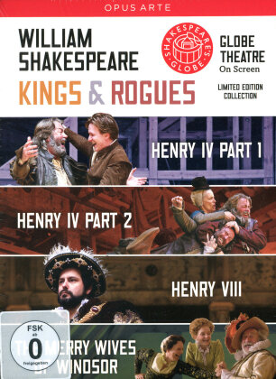Shakespeare - Kings & Rogues (Shakespeare's Globe, Opus Arte, 4 DVDs) - Globe Theatre