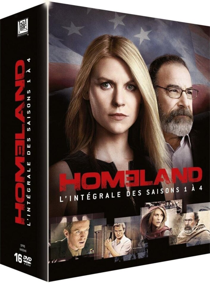 Homeland - Saisons 1-4 (16 DVDs)
