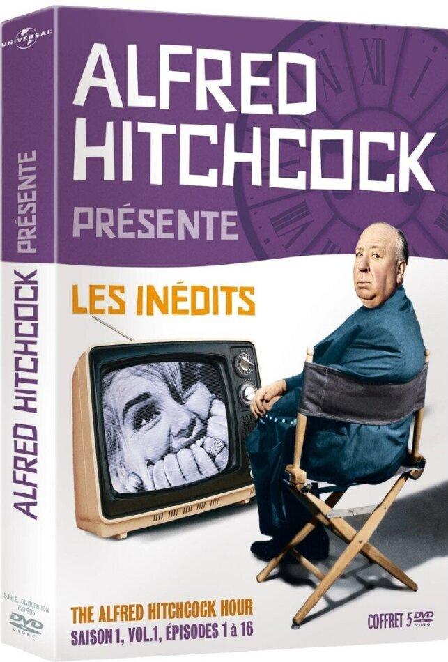 Alfred Hitchcock présente - Les inédits - The Alfred Hitchcock Hour - Saison 1, vol. 1, épisodes 1 à 16 (1962) (b/w, 5 DVDs)