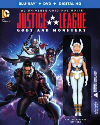 Justice League - Gods and Monsters (Édition Deluxe, Gift Set, Édition Limitée, Blu-ray + DVD)