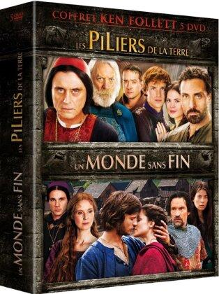 Coffret Ken Follet - Les piliers de la terre / Un monde sans fin (5 DVDs)