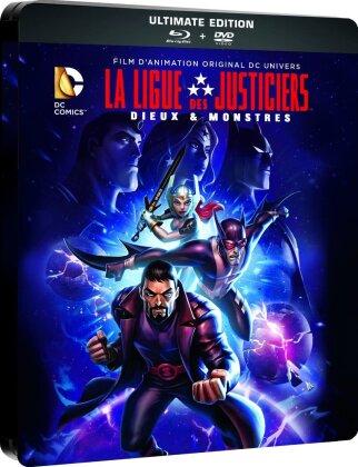 La Ligue des Justiciers - Dieux & Monstres (Steelbook, Blu-ray + DVD)
