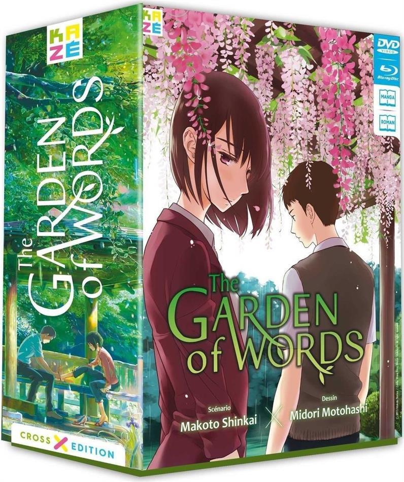 The garden of words (2013) (Cross Edition, Limited Edition, DVD + Blu-ray + 2 Bücher)