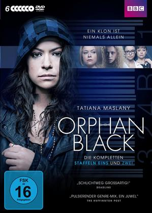 Orphan Black - Staffel 1 + 2 (BBC, 6 DVDs)