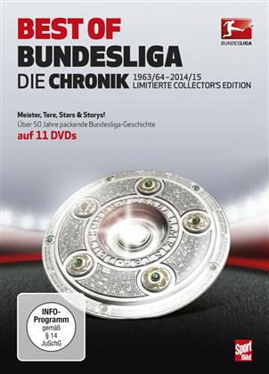Best of Bundesliga - Die Chronik 1963/64 -2014/15 (Limited Collector's Edition, 11 DVDs)