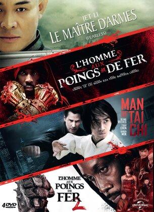 Le maître d'armes / L'homme aux poings de fer / Man of Tai Chi / L'homme aux poings de fer 2 (4 DVDs)