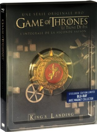 Game of Thrones - Saison 2 (avec Magnet Collector, Steelbook, Limited Edition, 5 Blu-rays)