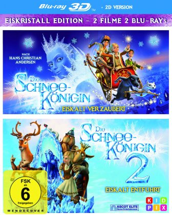 Die Schneekönigin 1+2 (2 Blu-ray 3D (+2D))