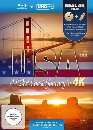 USA - A West Coast Journey (inkl. UHD Stick in Real 4K) (2014) (Limited Edition)