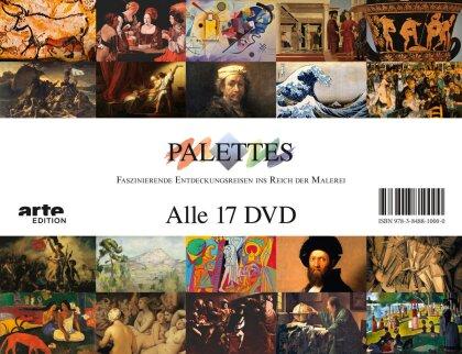 Palettes - Faszinierende Entdeckungsreisen ins Reich der Malerei (17 DVDs)