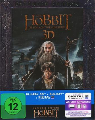 Der Hobbit 3 - Die Schlacht der fünf Heere (2014) (Extended Edition, 2 Blu-ray 3D + 3 Blu-rays)