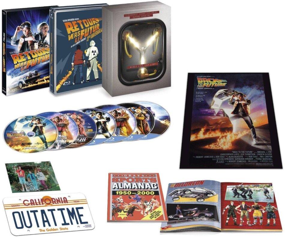 Retour vers le futur - Trilogie (Collector Flux Capacitor, Limited Edition, 4 Blu-rays + 3 DVDs)