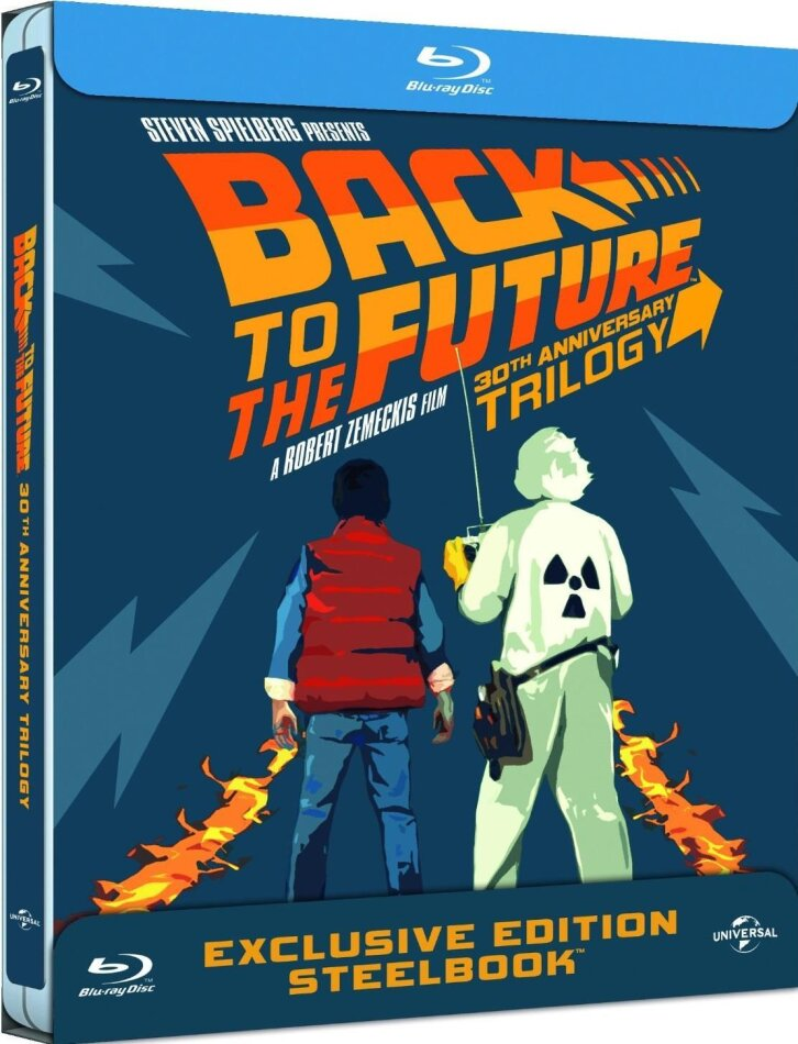 Back to the Future - Trilogy (Steelbook, 30th Anniversary Edition, 4 Blu-rays)