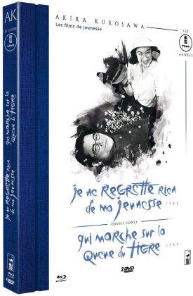 Je ne regrette rien de ma jeunesse / Qui marche sur la queue du tigre (Collection Akira Kurosawa - Les années Tōhō, s/w, Blu-ray + 2 DVDs)