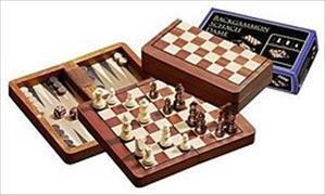 Reise Schach-Backgammon-Dame-Set