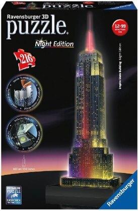 Night Edition - Empire State Building bei Nacht- 3D Gebäude Puzzle
