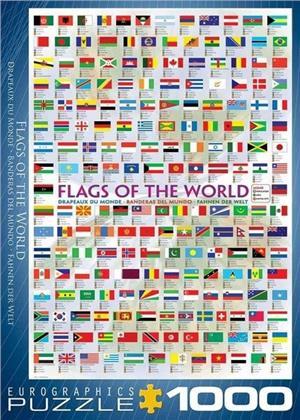 Fahnen der Welt - 1000 Teile Puzzle