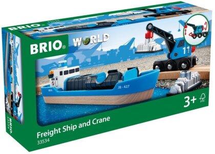 BRIO Railway 33534 - Container & Crane Wagon