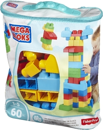 Mega Bloks: First Builders - Bausteinebeutel - Medium (60 Teile)