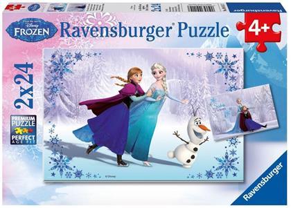 Disney Frozen: Schwestern für immer - 2 x 24 Teile Puzzle
