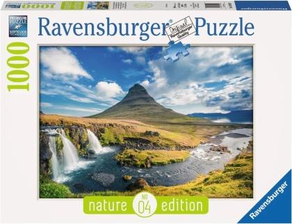 Nature Edition: Wasserfall von Kirkjufell, Island - Puzzle